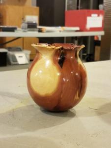 Cedar vessel by Ron Zdroik