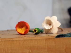 Turned flowers