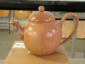 Completed teapot that Michael brought with - Brown Betty - function over form.