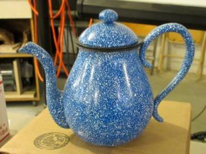 Completed teapot that Michael brought with - enamel finish.