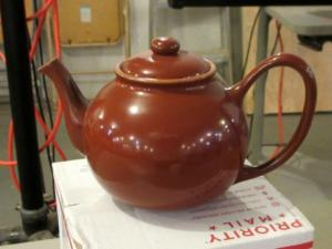 Completed teapot that Michael brought with.