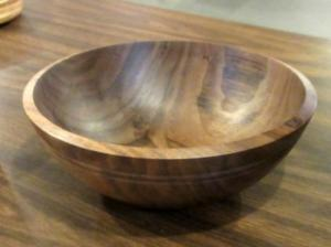 Walnut Bowl that was used in the Returning and Reverse Chucking Demonstrations