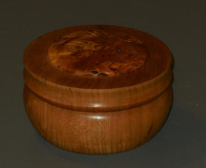 Tony Rozendaal - Cherry Lidded Box with Cherry Burl Insert