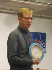 Kevin Seigworth With Painted Rim Platter