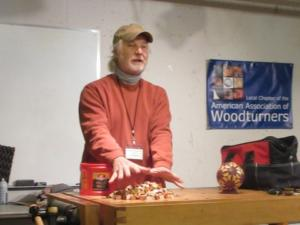 Jim Andresen with Segmented Sphere