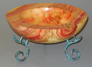 Boxelder Bowl with Legs - Ron Zdroik