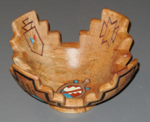 Carved and Decorated Bowl - Klaus Zunker