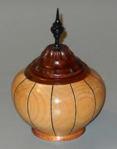 Lidded Box/vessel with Rose Engine Work on Lid - Vern Eilers