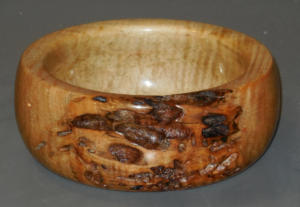 Figured Oak(?) Bowl - Paul Prodzinski