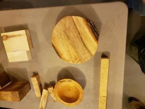 Wood Raffle Table